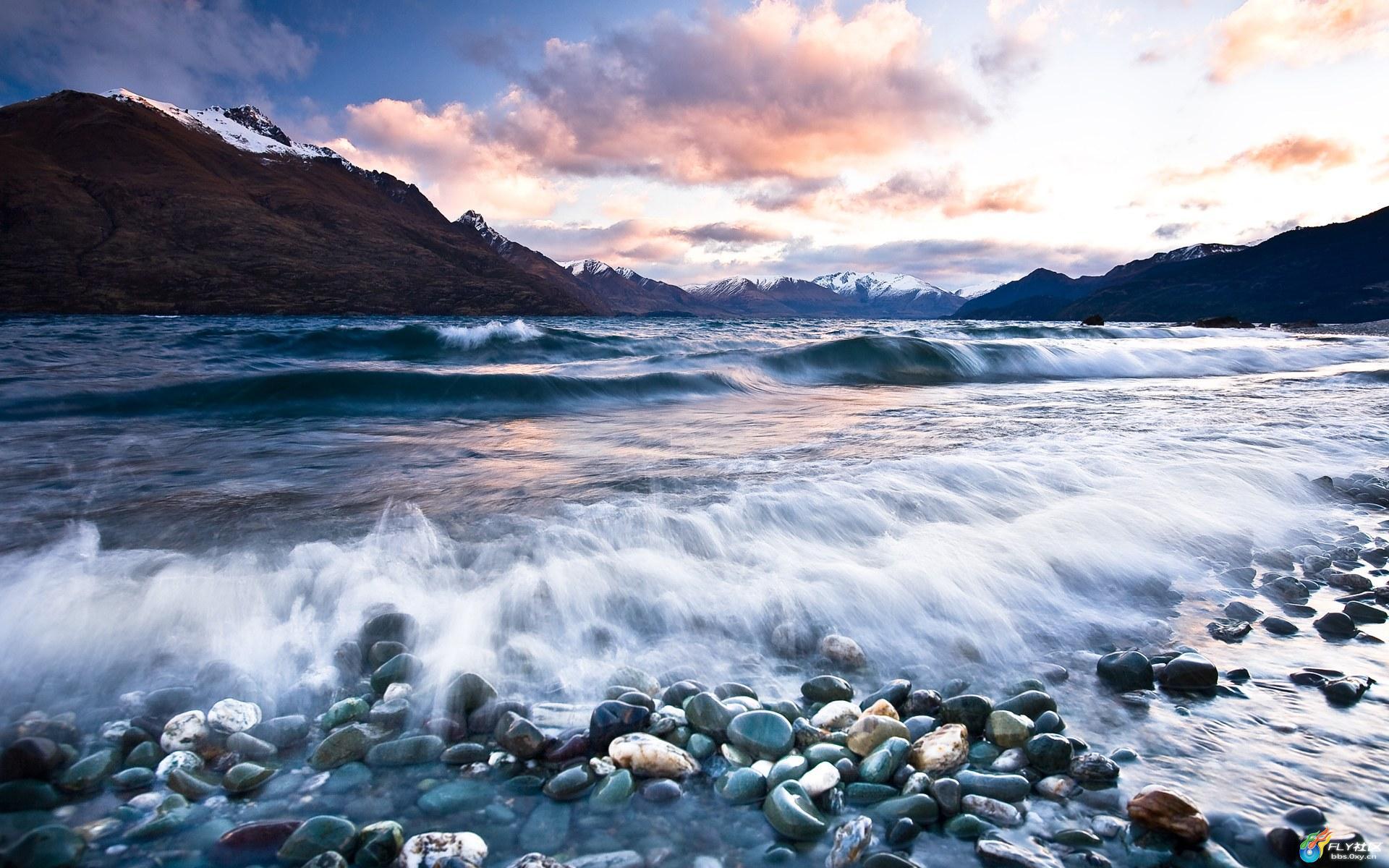 新西兰雪山湖泊[31p]
