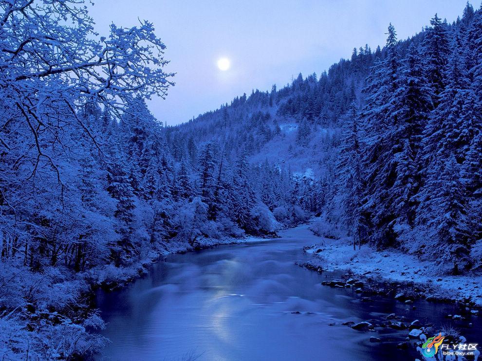 美丽地球 冬季雪景 - 爱的家园 - 红柳的博客