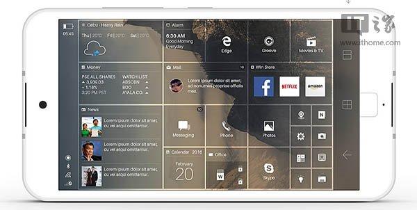 [size=font-size: 1pc,1pc]这幅概念设计图与现有Win10 Mobile系统的整体风格差异较大,比如字体和图标,可能很多朋友会更倾向于原版设计,但其中的一些特性还是值得关注的。 比如新增加的开始屏幕横屏模式,在Win10桌面版中有磁贴分组的概念,而Win10 Mobile中并没有,因此横屏模式下磁贴的自动排列可能造成混乱。去年12月国外网友曾曝光一段视频,暗示Win10 Mobile RedStone中或将增加磁贴分组特性,基于此,开始屏幕的横屏模式也有望实现。 另外,这张图同时也是