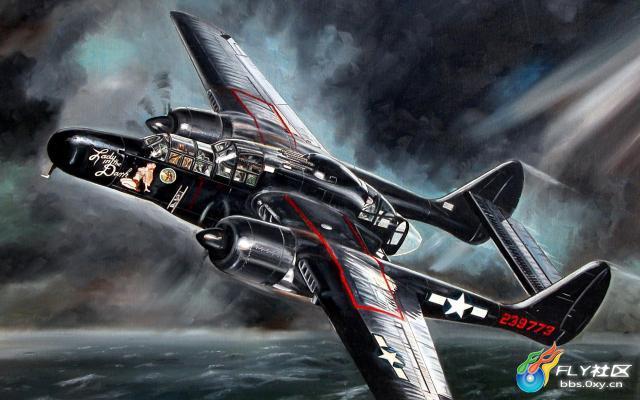 空中飞行的军用飞机 精美绘画壁纸 分辨率:1920*1200 20p